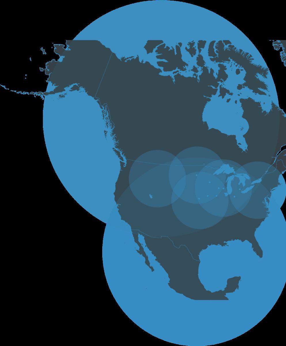Sunberg America coverage map